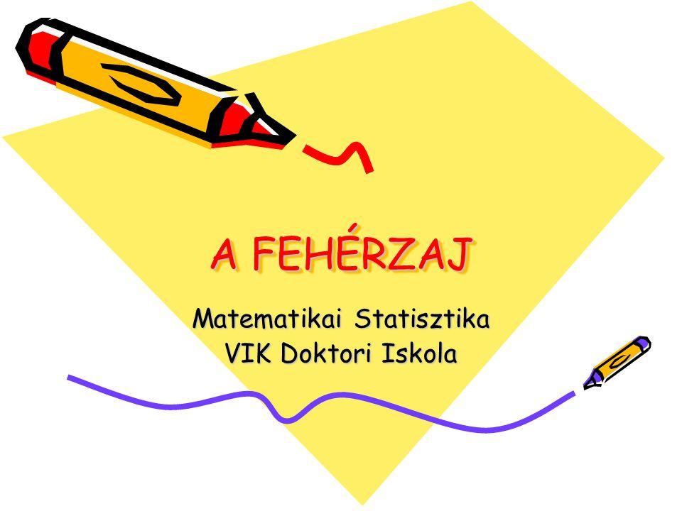 Matematikai Statisztika VIK Doktori Iskola