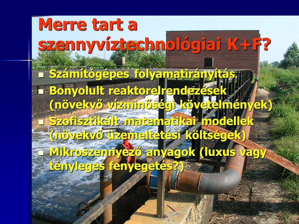 Merre tart a szennyvíztechnológiai K+F