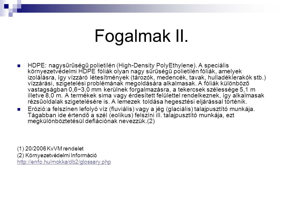 Fogalmak II.