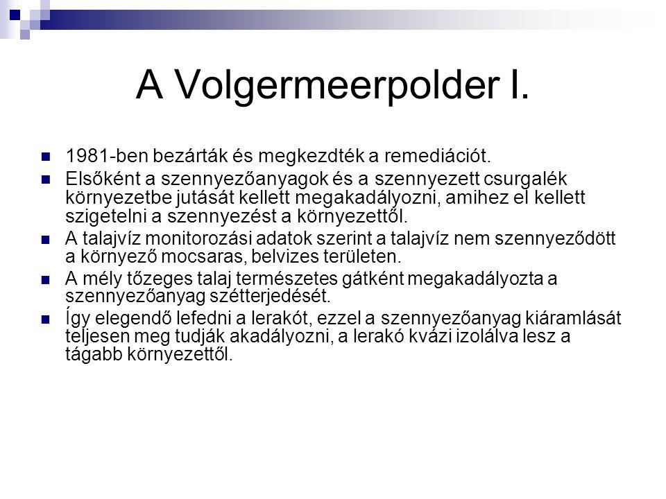 A Volgermeerpolder I. 1981-ben bezárták és megkezdték a remediációt.