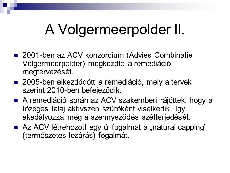 A Volgermeerpolder II. 2001-ben az ACV konzorcium (Advies Combinatie Volgermeerpolder) megkezdte a remediáció megtervezését.