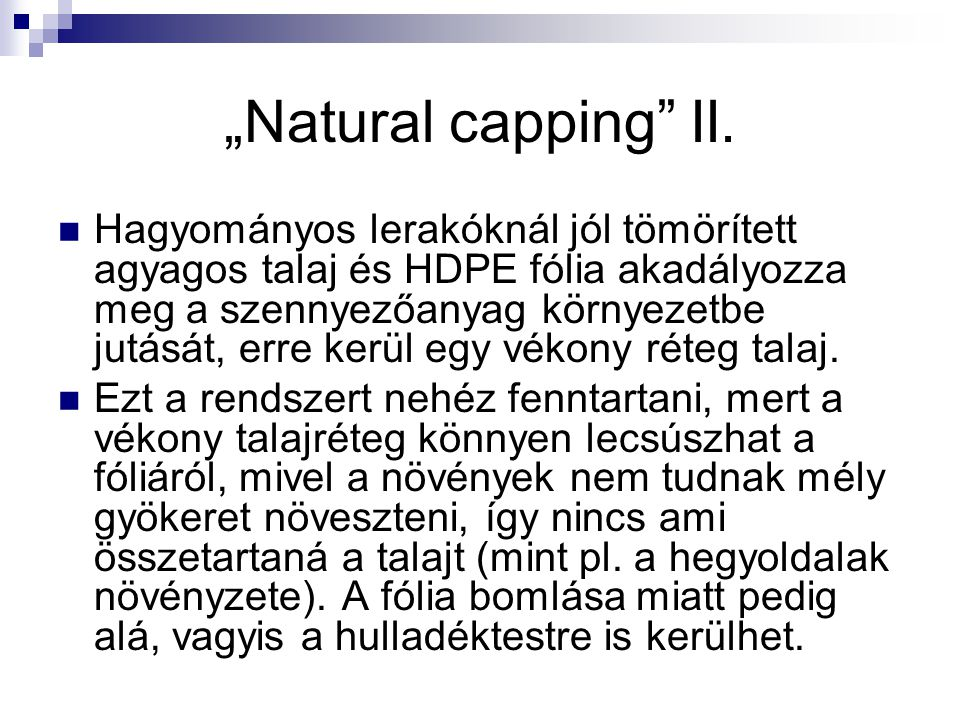 """""""Natural capping II."""