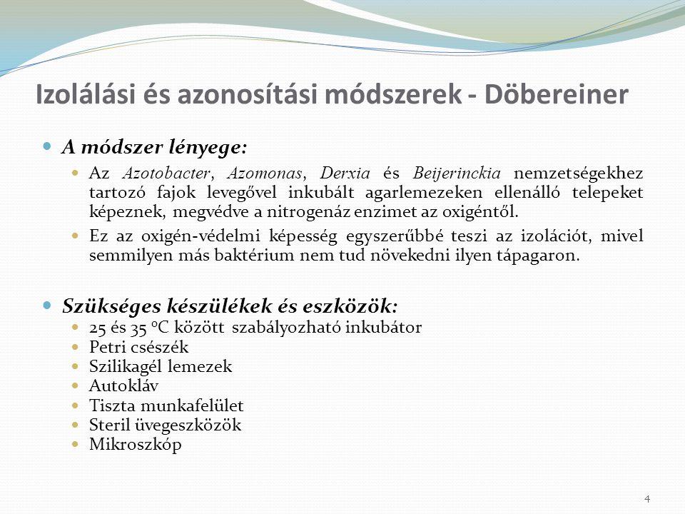 Izolálási és azonosítási módszerek - Döbereiner