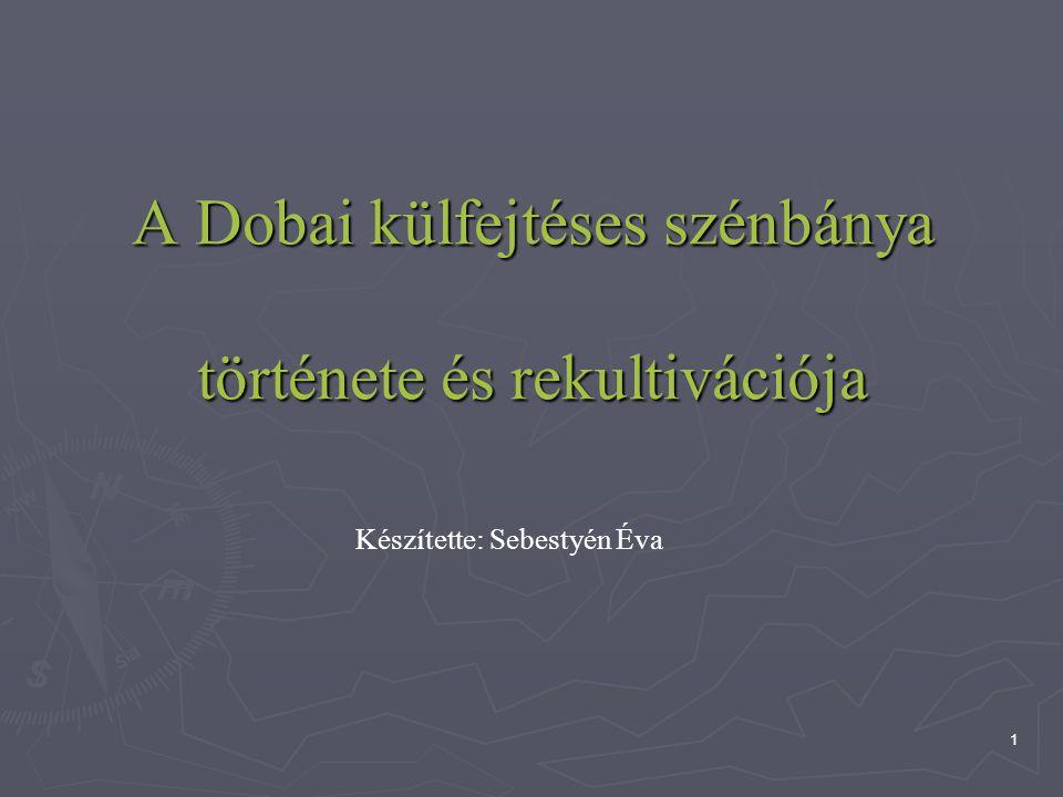 A Dobai külfejtéses szénbánya története és rekultivációja