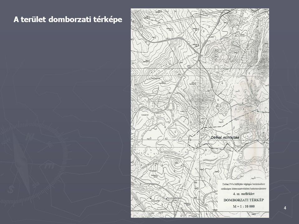 A terület domborzati térképe
