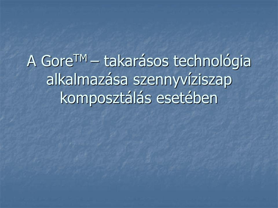 A GoreTM – takarásos technológia alkalmazása szennyvíziszap komposztálás esetében