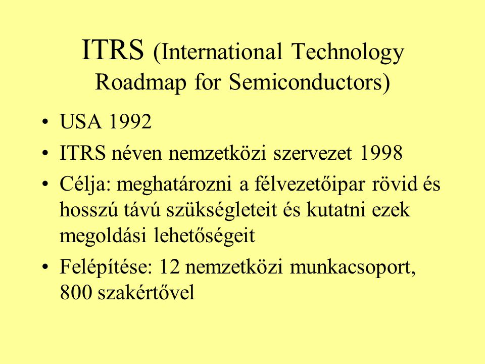 ITRS (International Technology Roadmap for Semiconductors)