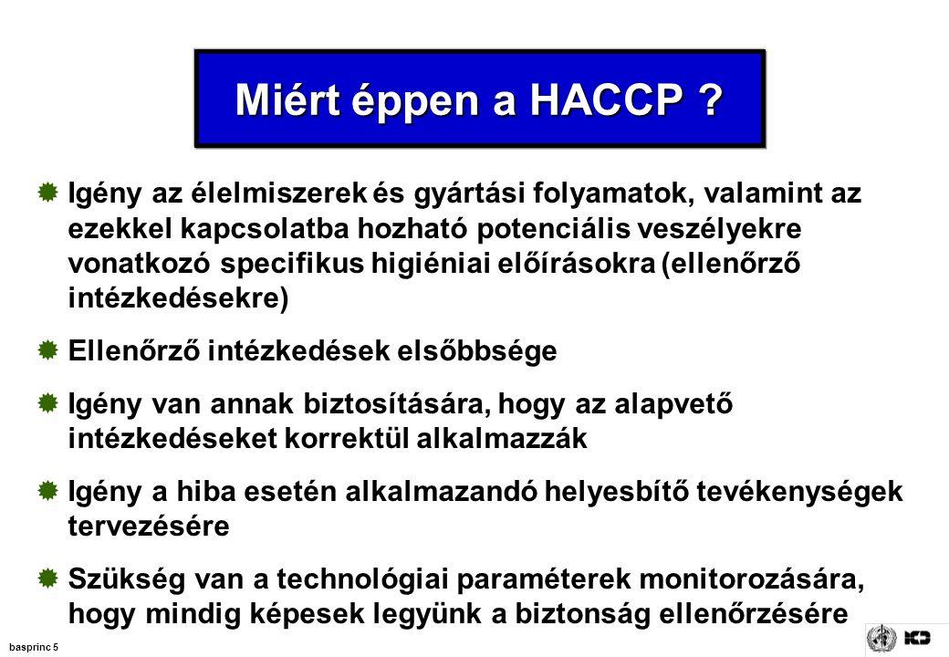 Miért éppen a HACCP