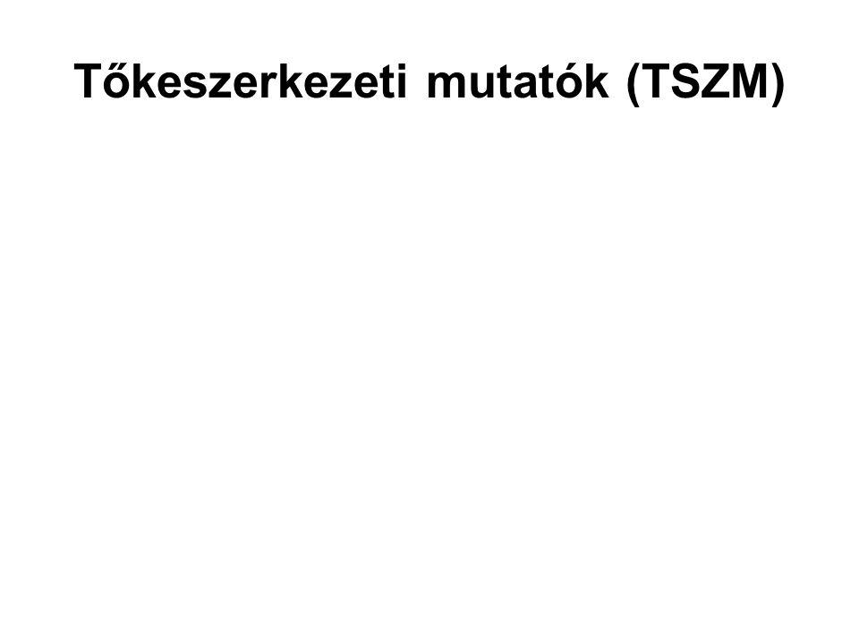 Tőkeszerkezeti mutatók (TSZM)