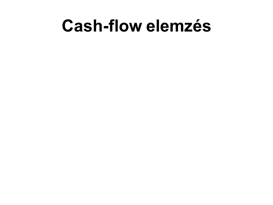 Cash-flow elemzés