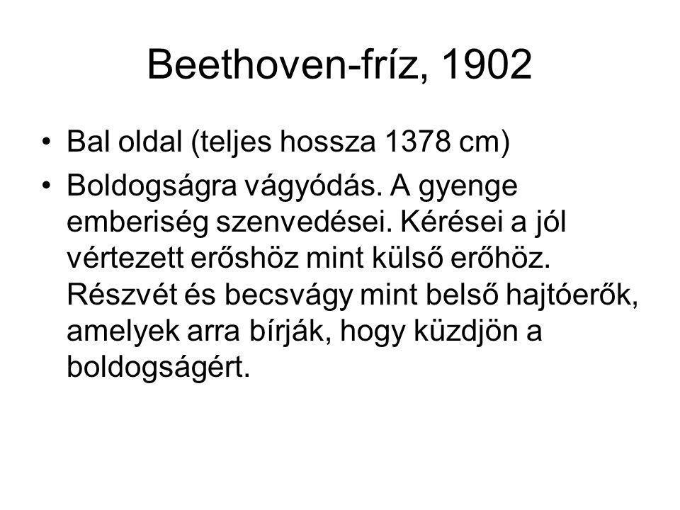 Beethoven-fríz, 1902 Bal oldal (teljes hossza 1378 cm)