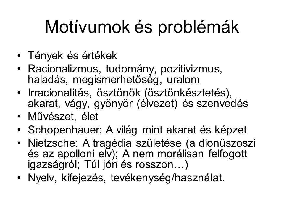 Motívumok és problémák