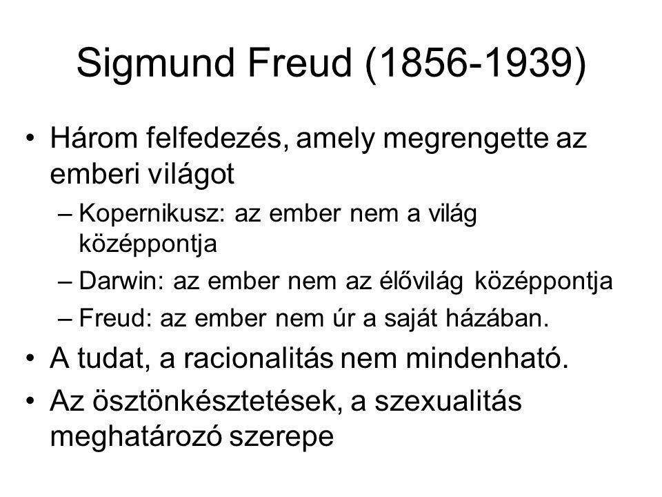Sigmund Freud (1856-1939) Három felfedezés, amely megrengette az emberi világot. Kopernikusz: az ember nem a világ középpontja.