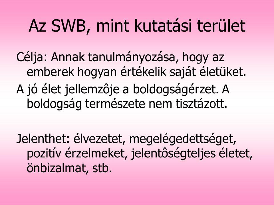 Az SWB, mint kutatási terület