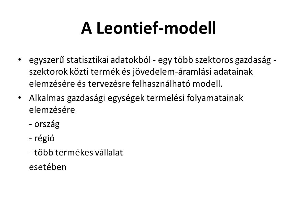 A Leontief-modell