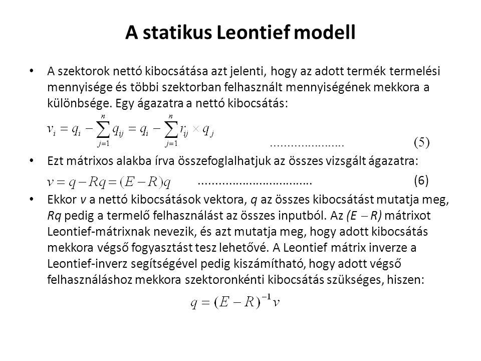 A statikus Leontief modell