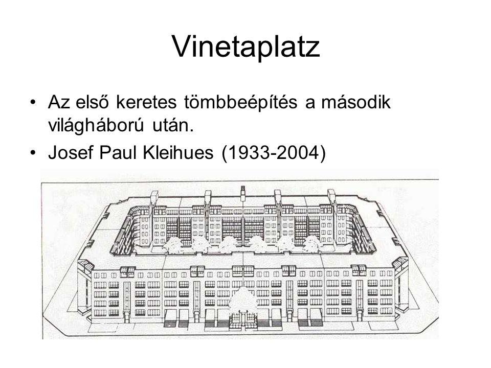 Vinetaplatz Az első keretes tömbbeépítés a második világháború után.