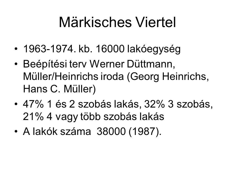 Märkisches Viertel 1963-1974. kb. 16000 lakóegység