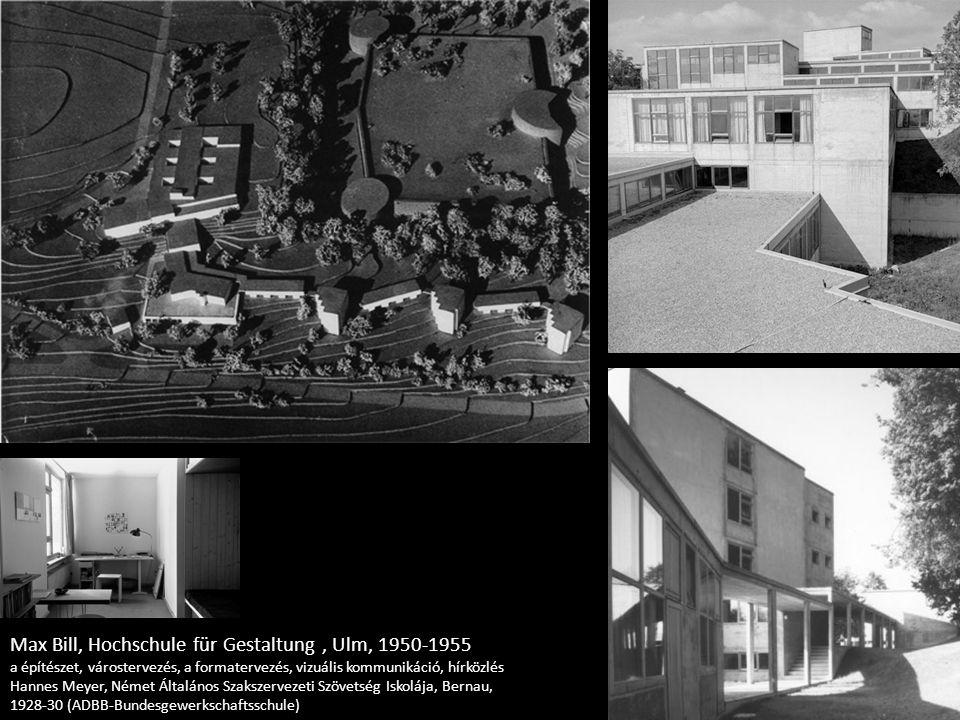 Max Bill, Hochschule für Gestaltung , Ulm, 1950-1955