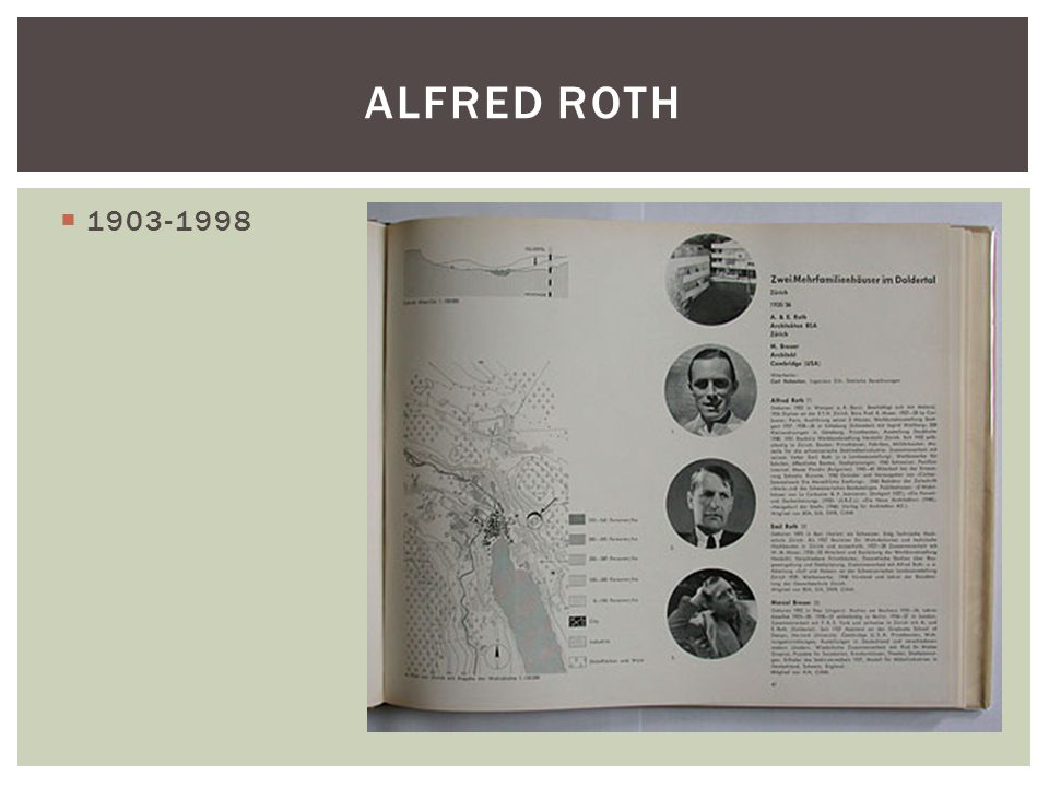 Alfred Roth 1903-1998
