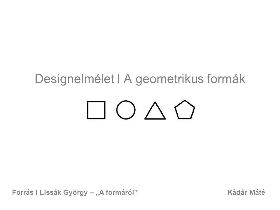 Designelmélet I A geometrikus formák