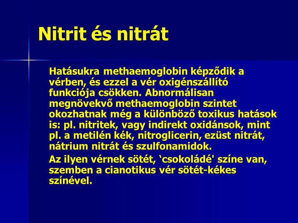 Nitrit és nitrát