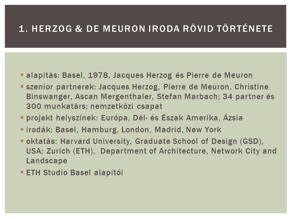1. Herzog & de Meuron iroda rövid története