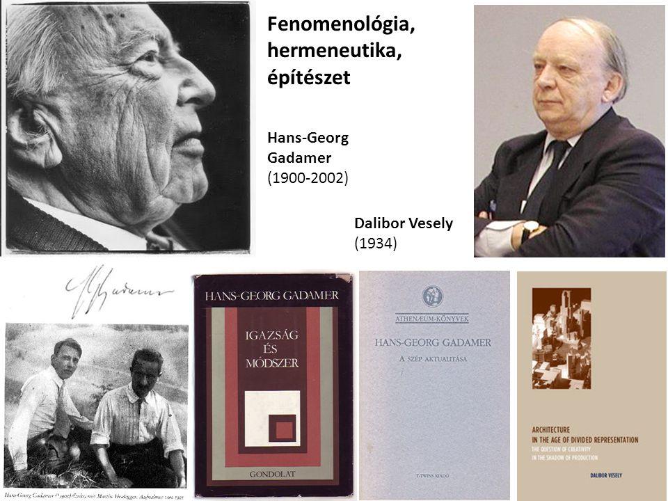 Fenomenológia, hermeneutika, építészet