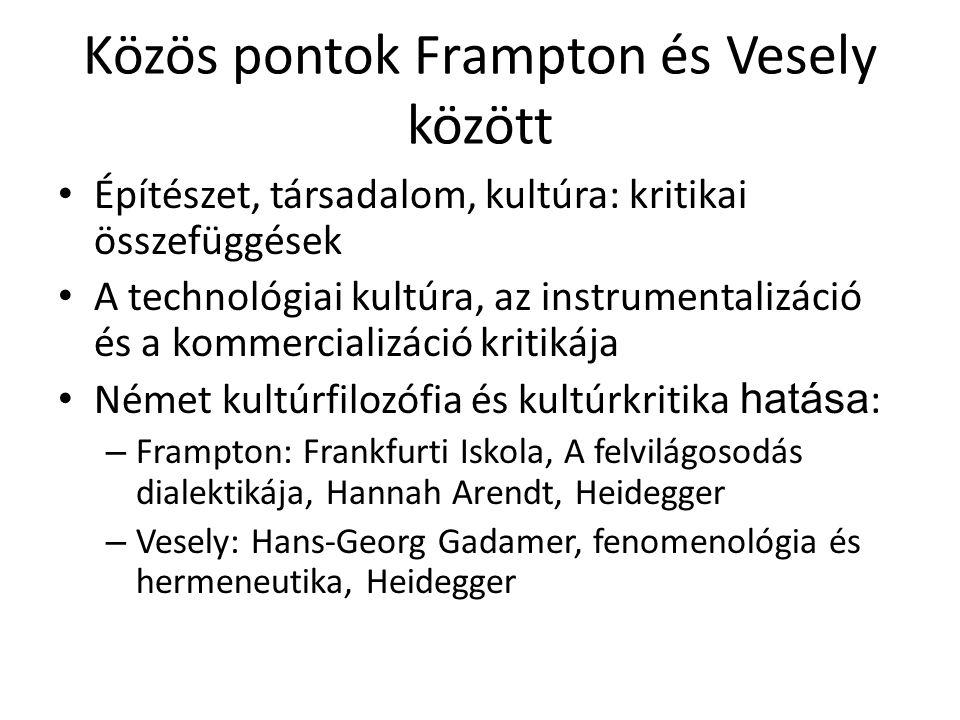 Közös pontok Frampton és Vesely között