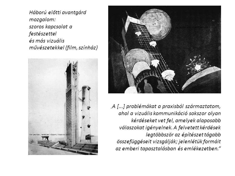 Háború előtti avantgárd mozgalom: szoros kapcsolat a festészettel