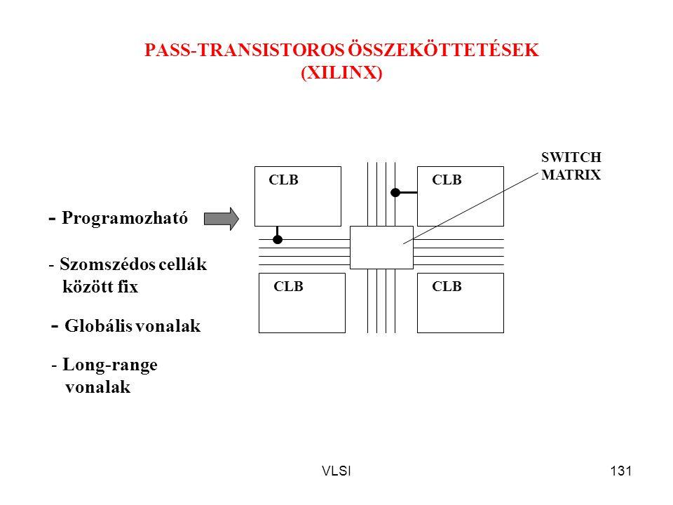 PASS-TRANSISTOROS ÖSSZEKÖTTETÉSEK (XILINX)