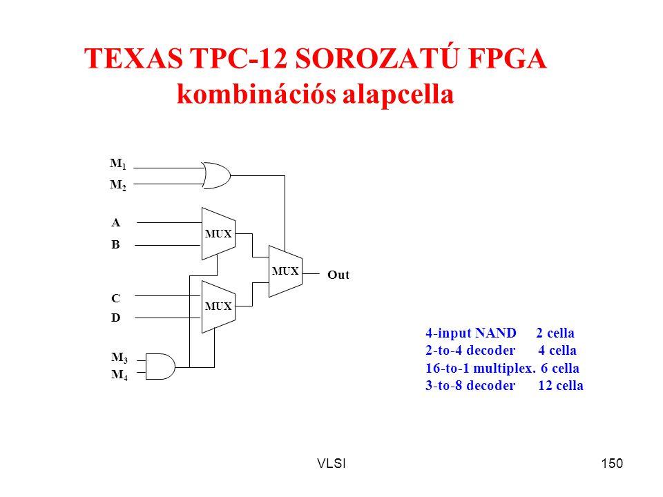 TEXAS TPC-12 SOROZATÚ FPGA kombinációs alapcella