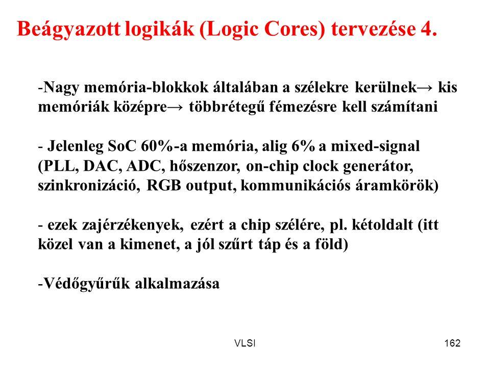 Beágyazott logikák (Logic Cores) tervezése 4.