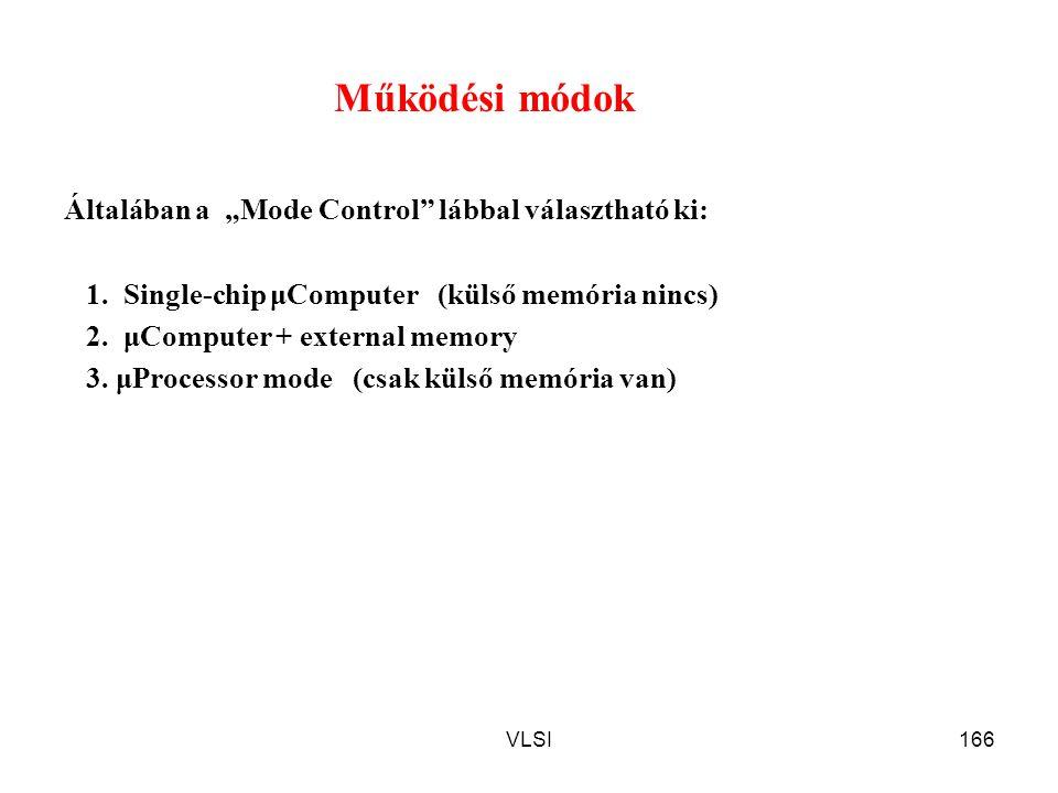 """Működési módok Általában a """"Mode Control lábbal választható ki:"""