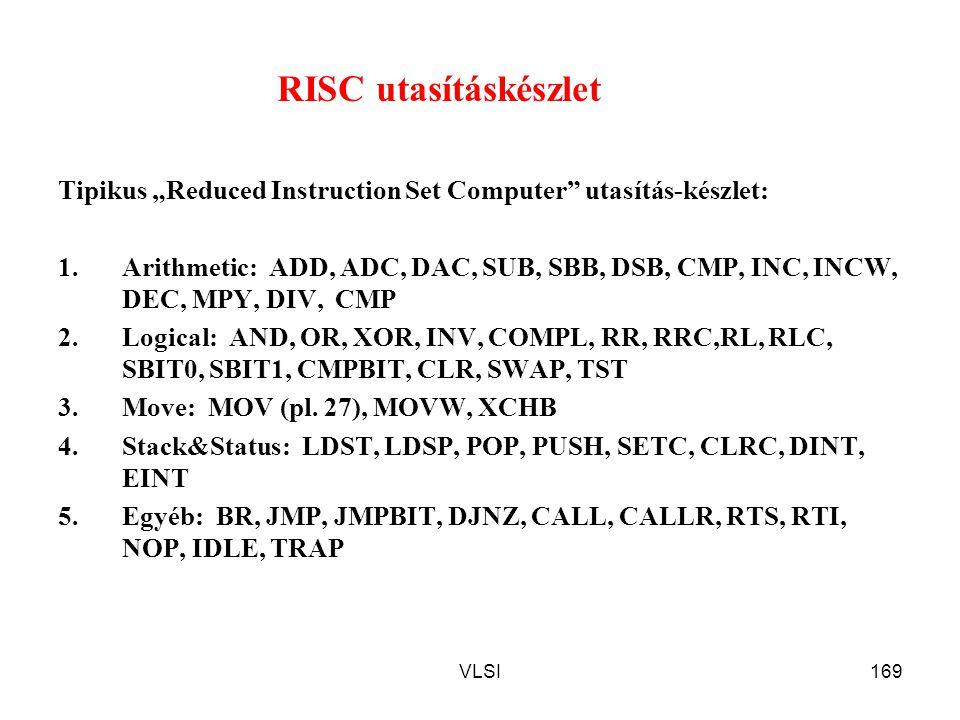 """RISC utasításkészlet Tipikus """"Reduced Instruction Set Computer utasítás-készlet:"""