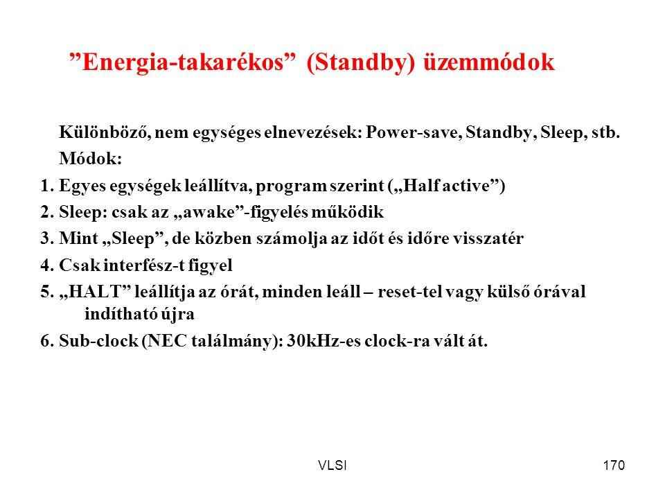 Energia-takarékos (Standby) üzemmódok