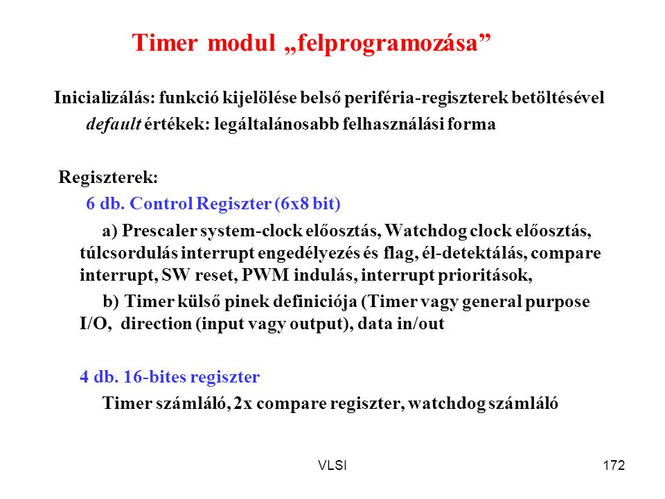 "Timer modul ""felprogramozása"