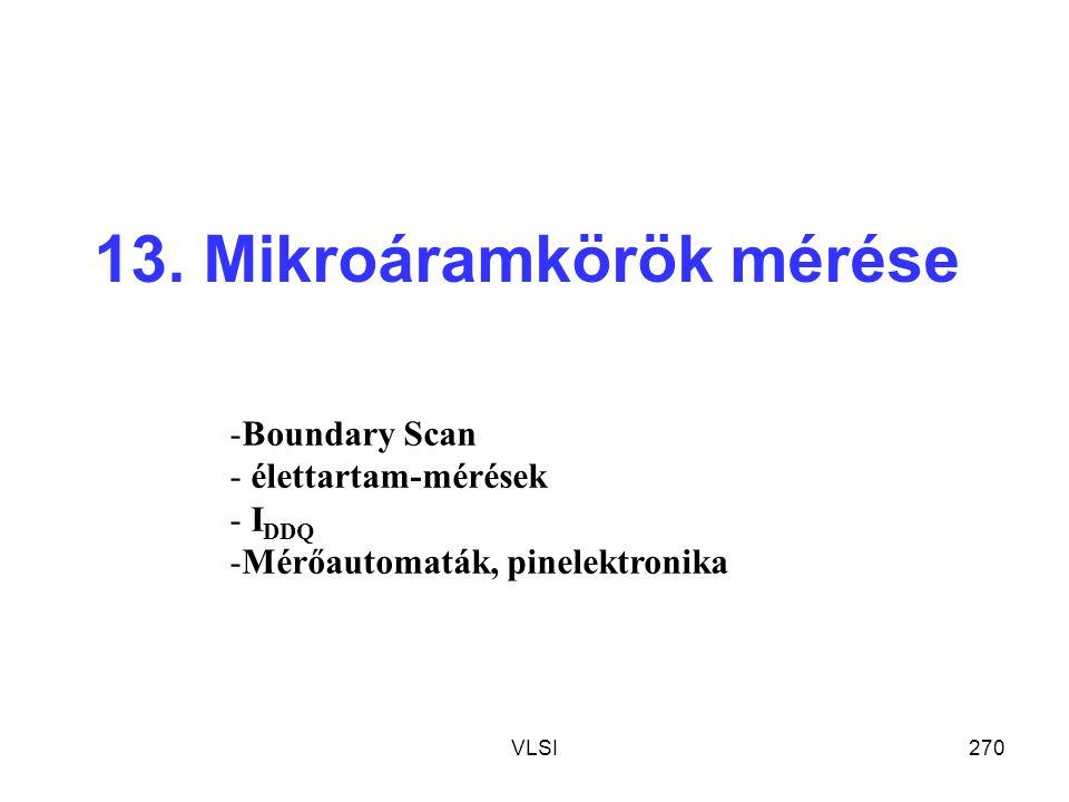 13. Mikroáramkörök mérése