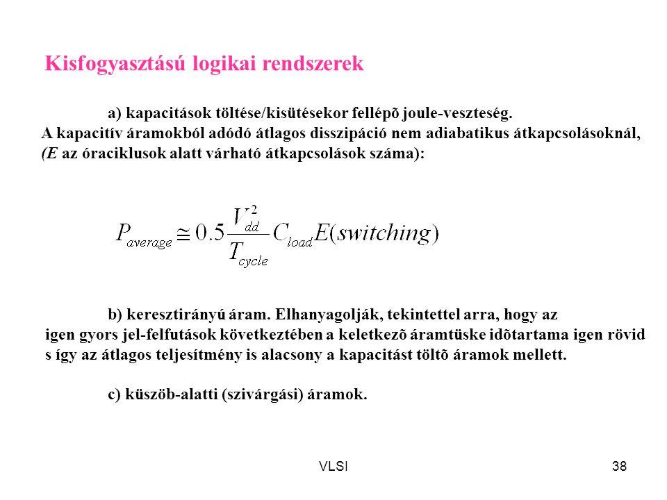 a) kapacitások töltése/kisütésekor fellépõ joule-veszteség.