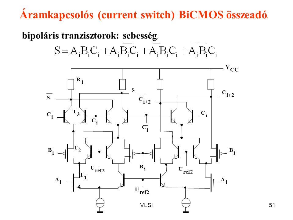 Áramkapcsolós (current switch) BiCMOS összeadó.