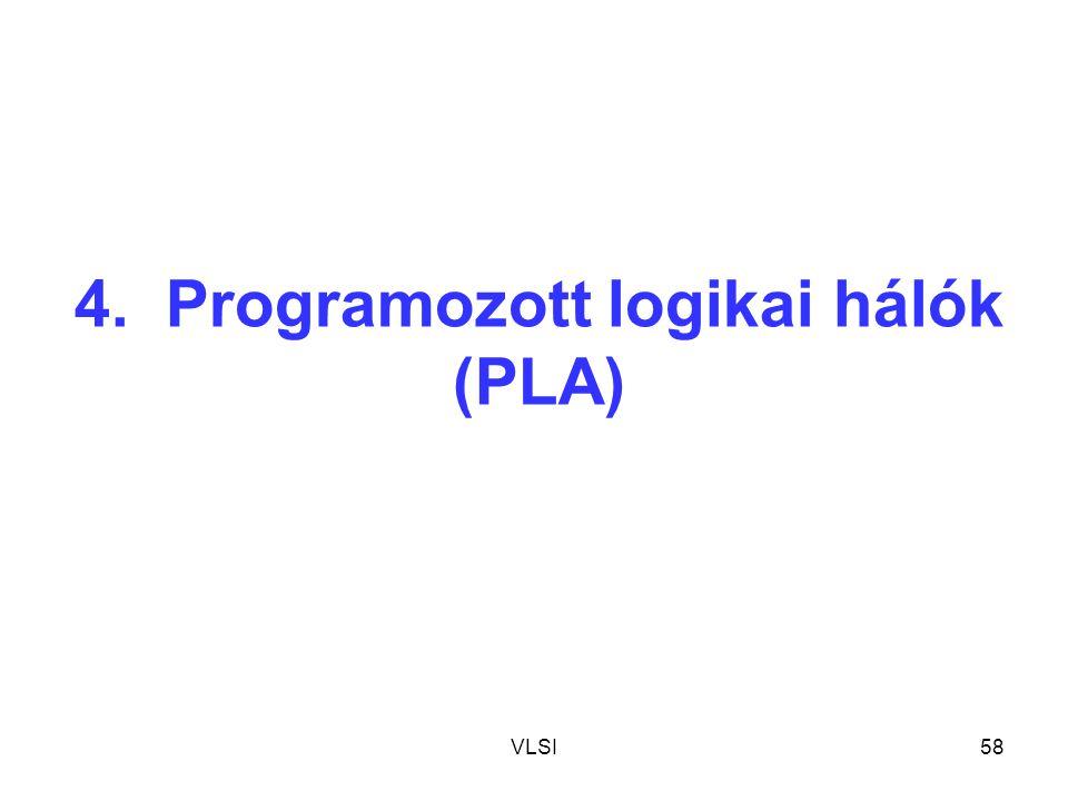 4. Programozott logikai hálók (PLA)