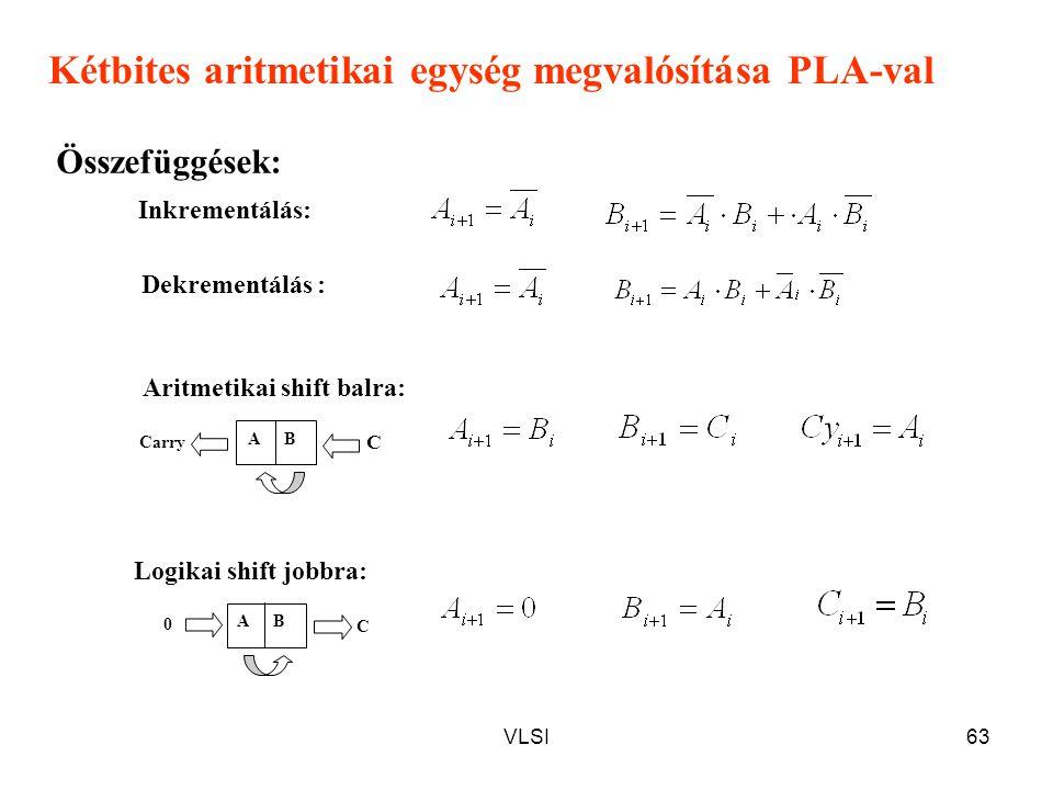Kétbites aritmetikai egység megvalósítása PLA-val