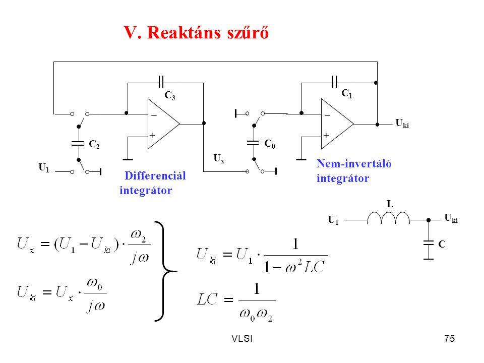 V. Reaktáns szűrő Nem-invertáló integrátor Differenciál integrátor C3