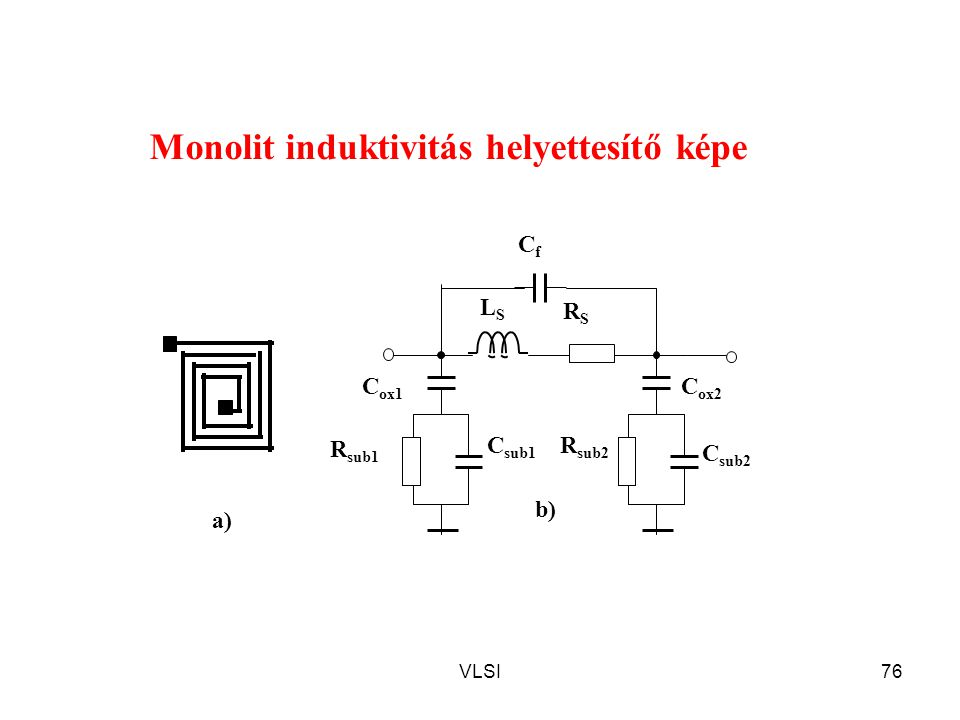 Monolit induktivitás helyettesítő képe