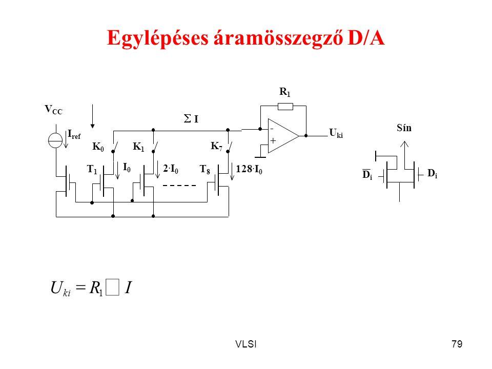 Egylépéses áramösszegző D/A