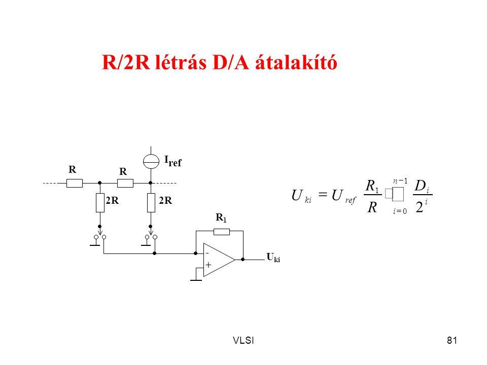 R/2R létrás D/A átalakító