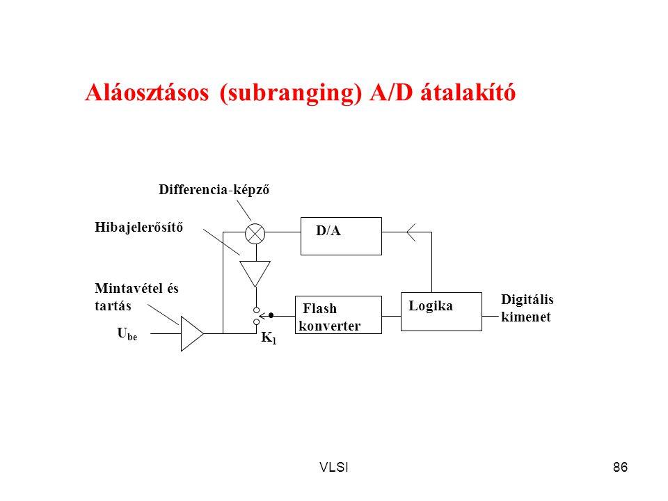Aláosztásos (subranging) A/D átalakító