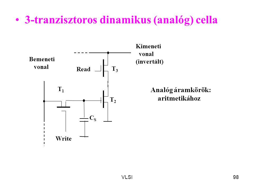 3-tranzisztoros dinamikus (analóg) cella