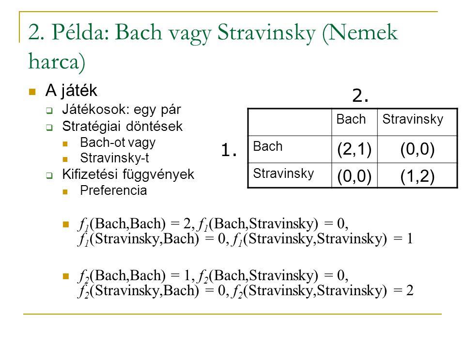 2. Példa: Bach vagy Stravinsky (Nemek harca)