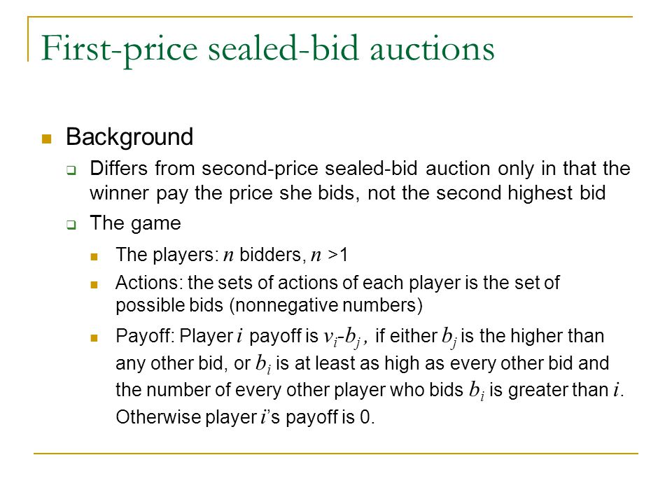 First-price sealed-bid auctions